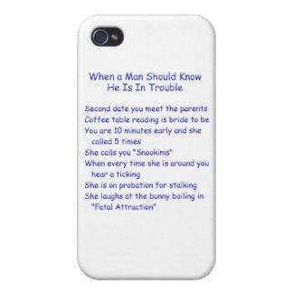 Los hombres deben saber problema cuando…. iPhone 4/4S funda