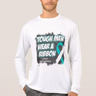 Los hombres duros del cáncer de cuello del útero camisetas