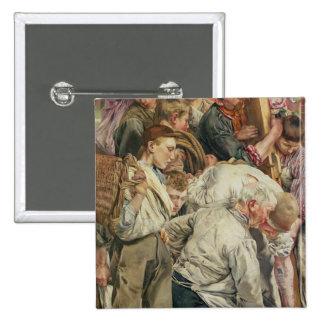 Los hombres, el panel izquierdo de la edad del tra pin cuadrado