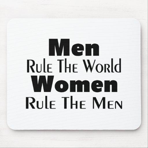 Los hombres gobiernan a las mujeres del mundo gobi tapete de ratón
