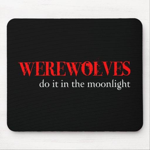 Los hombres lobos lo hacen… alfombrillas de ratón