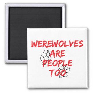 los hombres lobos son gente también imanes para frigoríficos