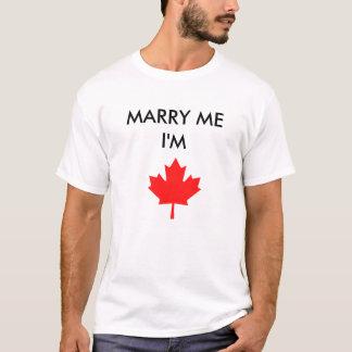 Los hombres me casan que soy camiseta canadiense
