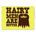 ¡Los hombres melenudos son MEJORES! con una perill Tarjeta De Felicitación