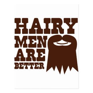¡Los hombres melenudos son MEJORES! con una perill Postales