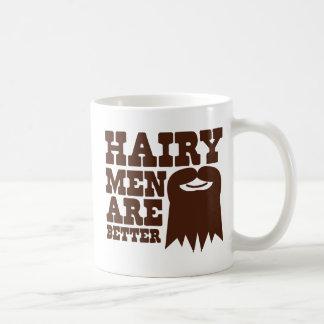 ¡Los hombres melenudos son MEJORES! con una perill Taza De Café