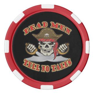 Los hombres muertos no cuentan ningún cuento fichas de póquer