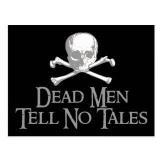 Los hombres muertos no cuentan ningún cuento tarjeta postal