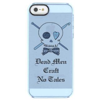 Los hombres muertos no hacen ningún cuento a mano funda clearly™ deflector para iPhone 5 de uncommon