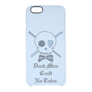Los hombres muertos no hacen ningún cuento a mano funda clearly™ deflector para iPhone 6 de uncommon