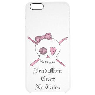 Los hombres muertos no hacen ningún cuento a mano funda clearly™ deflector para iPhone 6 plus de unc
