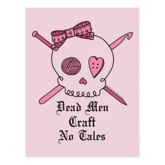 Los hombres muertos no hacen ningún cuento a mano postales