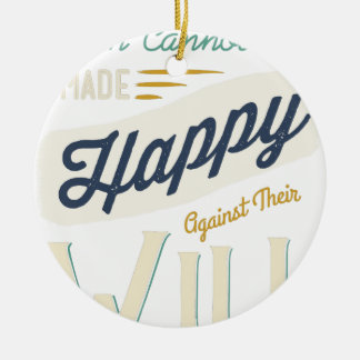Los hombres no pueden ser hechos felices contra su ornamento de navidad