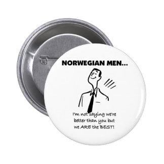 Los hombres noruegos son el mejor pin redondo de 2 pulgadas
