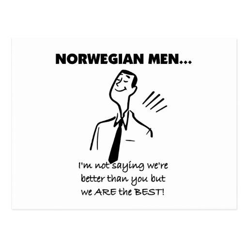 Los hombres noruegos son el mejor postal