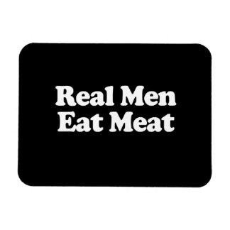 Los hombres reales comen la carne iman flexible