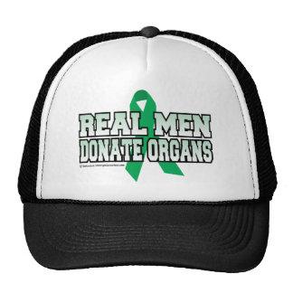 Los hombres reales donan órganos gorro