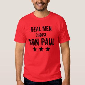 Los hombres reales eligen a Ron Paul Camisas