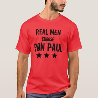 Los hombres reales eligen a Ron Paul Playera