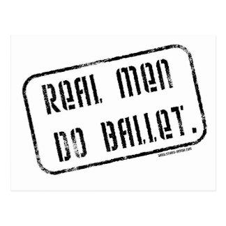 Los hombres reales hacen ballet postal