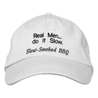 Los hombres reales hacen él gorra lento del Bbq Gorra De Beisbol Bordada