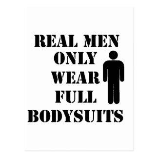 Los hombres reales llevan solamente humor completo postal