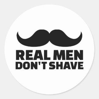 Los hombres reales no afeitan pegatina redonda