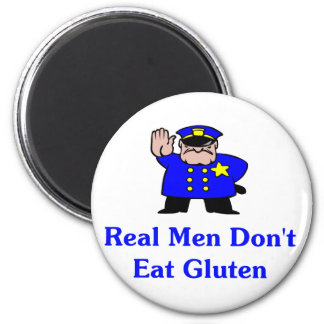 Los hombres reales no comen el gluten iman para frigorífico
