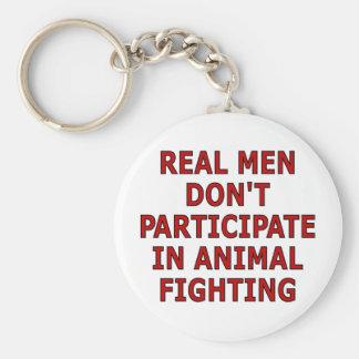 Los hombres reales no participan en la lucha anima llaveros