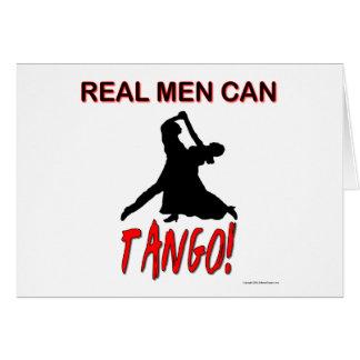 Los hombres reales pueden tango tarjeta de felicitación