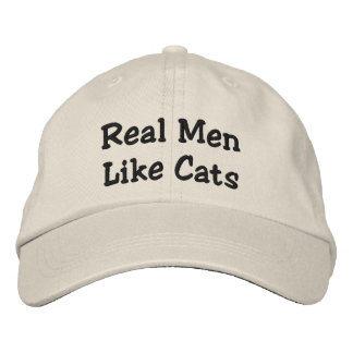 Los hombres reales tienen gusto de gatos gorra de béisbol bordada