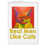 Los hombres reales tienen gusto de gatos tarjetón