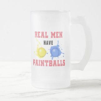 Los hombres reales tienen Paintballs Tazas De Café