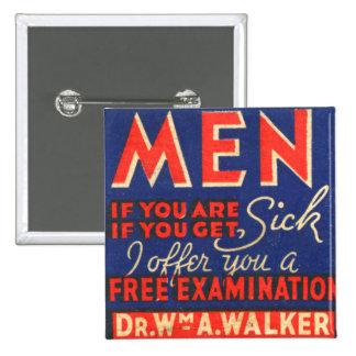 ¡Los hombres retros del arte del Matchbook del kit Pin