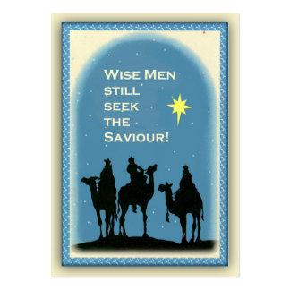 Los hombres sabios buscan al salvador distribuyen tarjetas de visita grandes