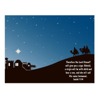 Los hombres sabios lo buscan postal del navidad