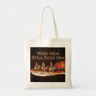 Los hombres sabios todavía lo buscan, navidad bolsas lienzo