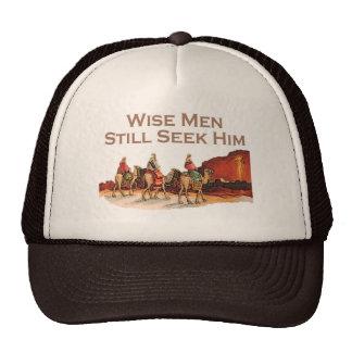 Los hombres sabios todavía lo buscan navidad gorras