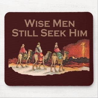 Los hombres sabios todavía lo buscan navidad alfombrillas de raton