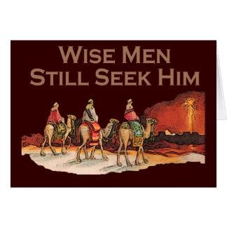 Los hombres sabios todavía lo buscan navidad felicitacion