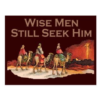 Los hombres sabios todavía lo buscan, navidad postal