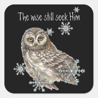 Los hombres sabios todavía lo buscan pájaro del pegatina cuadrada