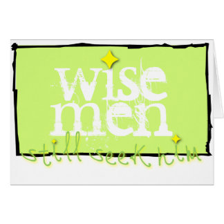 Los hombres sabios todavía lo buscan tarjetón