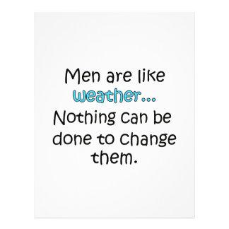 Los hombres son como el tiempo plantilla de membrete