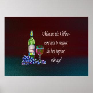 Los hombres son como el vino, poster del arte