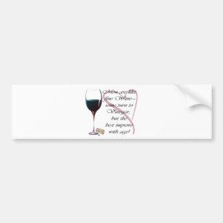 Los hombres son como los regalos del vino fino etiqueta de parachoque