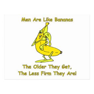 Los hombres son como plátanos postal