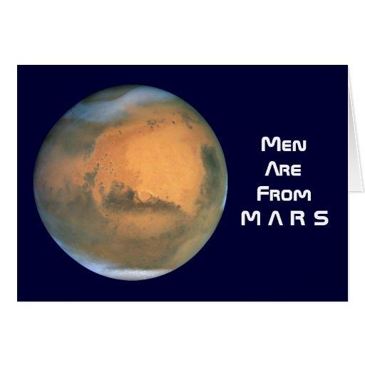 Los hombres son de Marte - las mujeres son de Venu Felicitacion