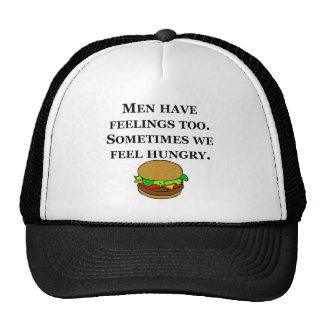 Los hombres tienen sensaciones hambrientas gorra