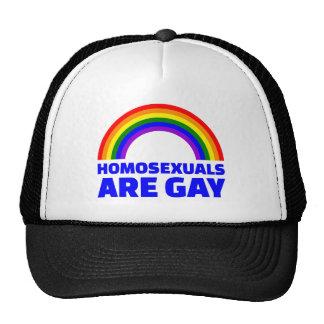 Los homosexuales son gay gorras de camionero